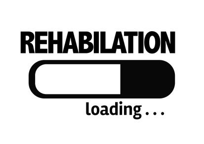 Progress Bar Loading with the text: Rehabilitation
